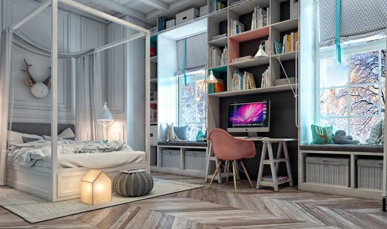 habitaciones para ninos diseno cama dosel lujo ideas