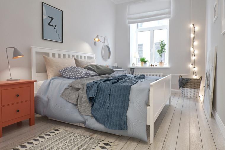 habitaciones para ninos diseno cama madera blanca ideas