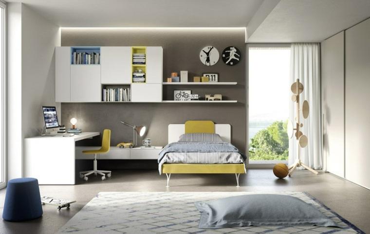 habitaciones para ninos diseno color gris ideas