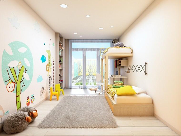 habitaciones para ninos diseno dibujos pared ideas