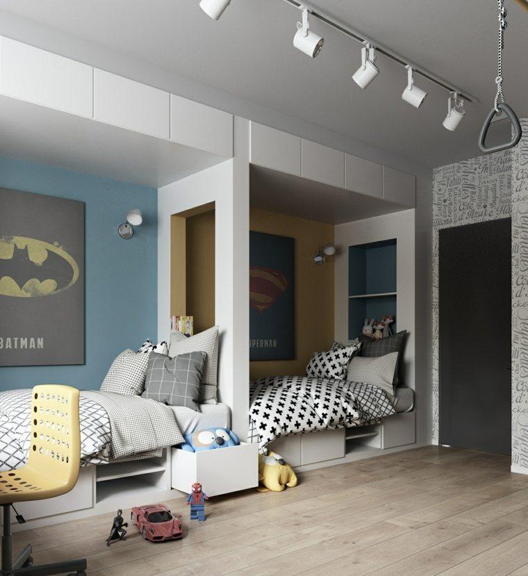 habitaciones para ninos diseno dos chicos moderna ideas