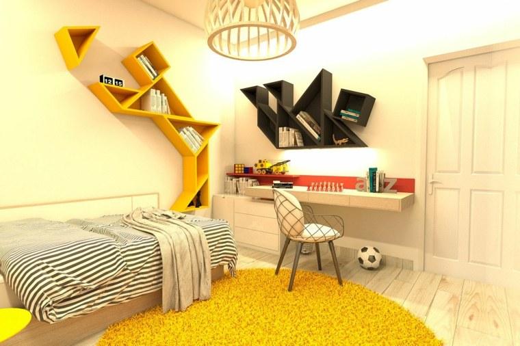 habitaciones para ninos diseno estantes pared originales ideas
