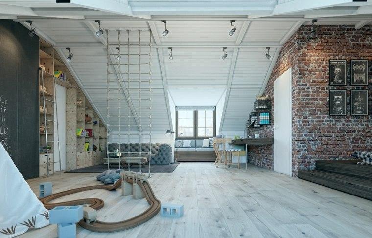 habitaciones para ninos diseno loft moderno amplio ideas