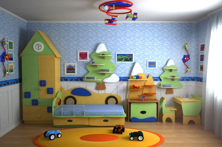 habitaciones ninos diseno moderno colorido ideas