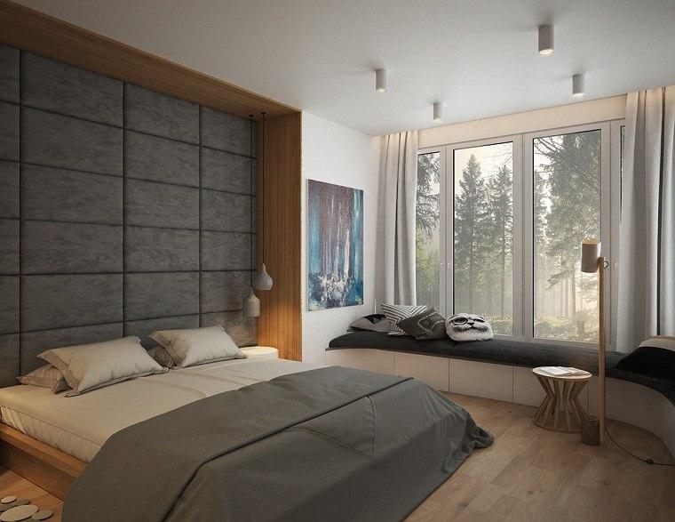 habitaciones ventanas colores grises ventanas