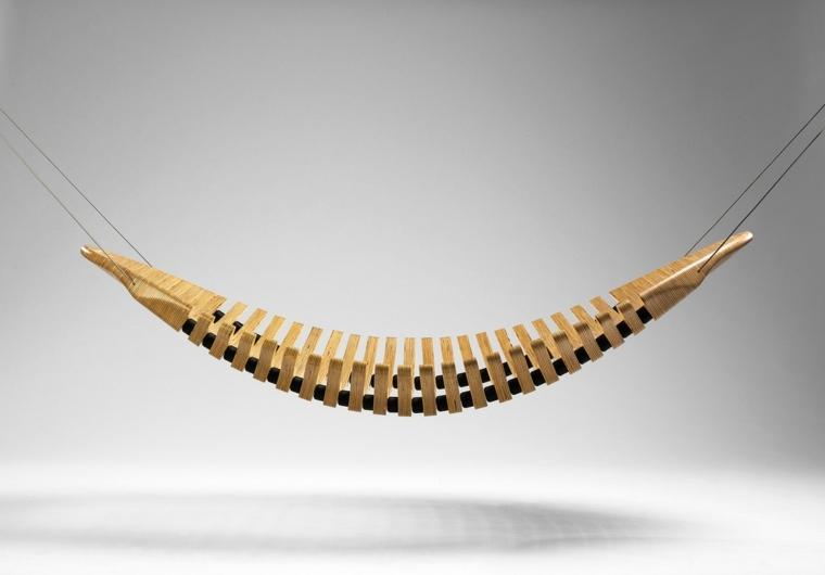 hamaca moderna forma columna vertebral
