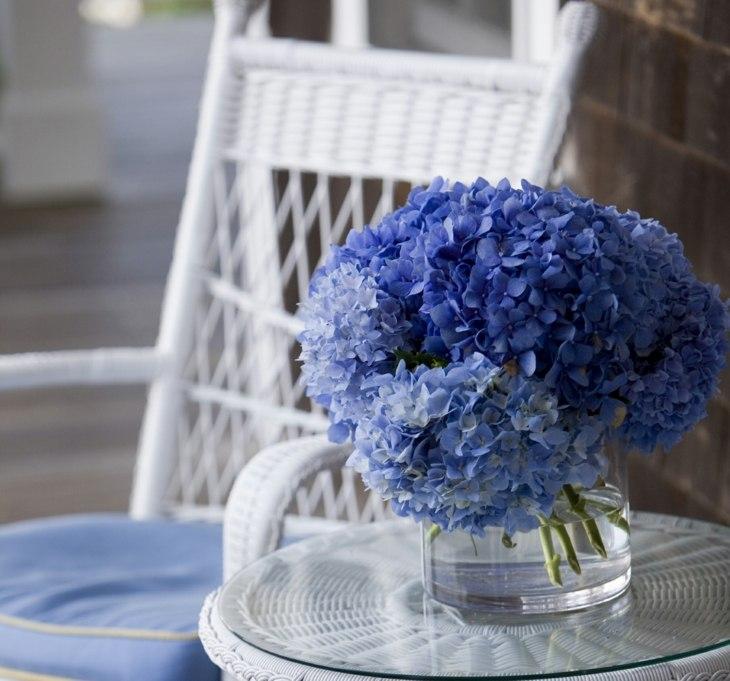 hortensias ideas centro mesa blanco