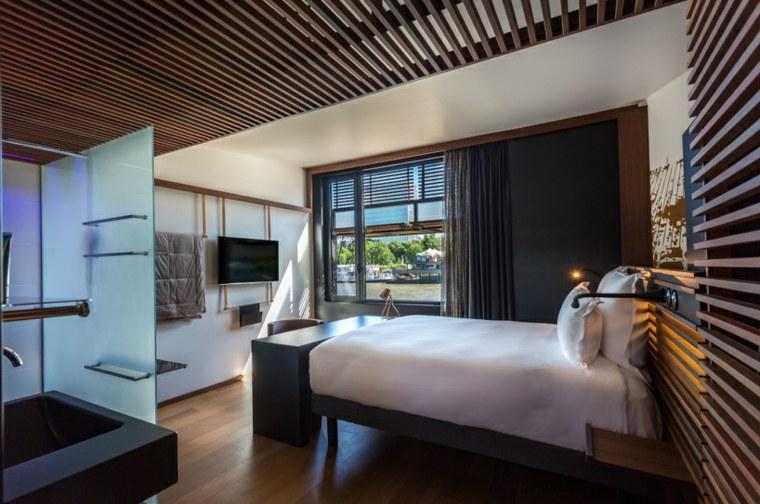 hotel especial diseños paredes listones