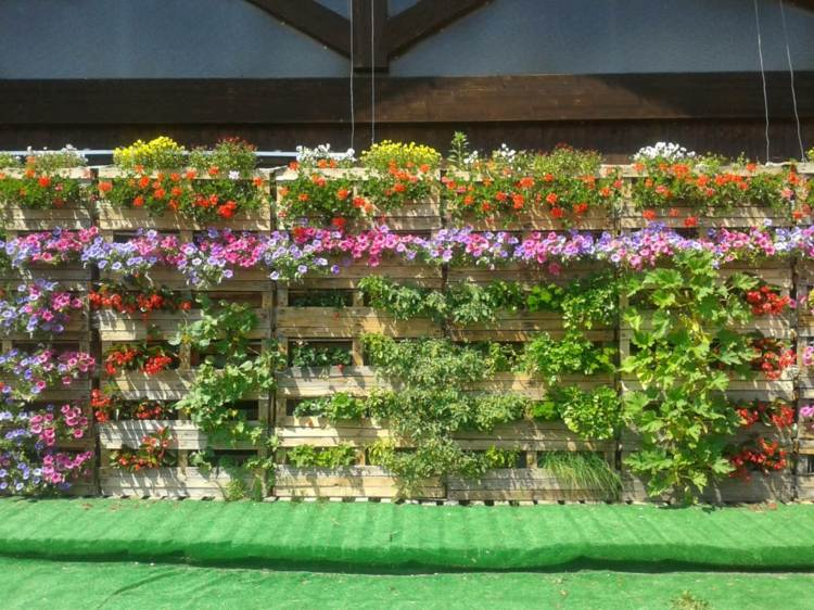 huerto maneras plantar vegetales hierbas pared macetas madera ideas