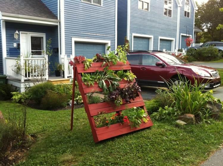 huerto vertical maneras plantar vegetales hierbas jardin delantero ideas