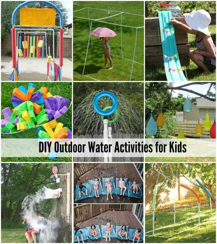 ideas hacer actividades infantiles acuáticas