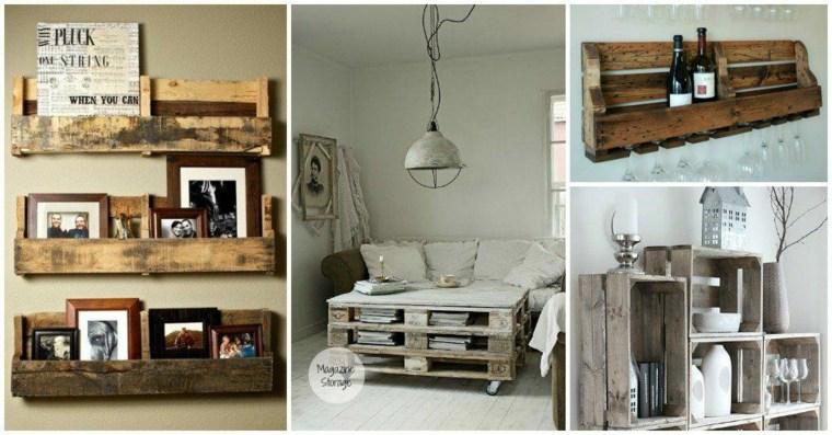 ideas almacenamiento con palets madera