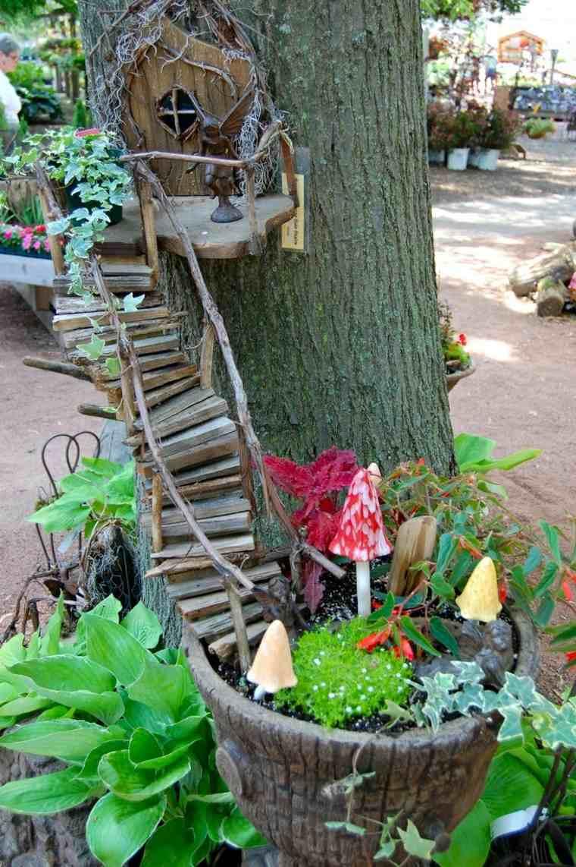 ideas creativas manualidades jardin decorar madera original