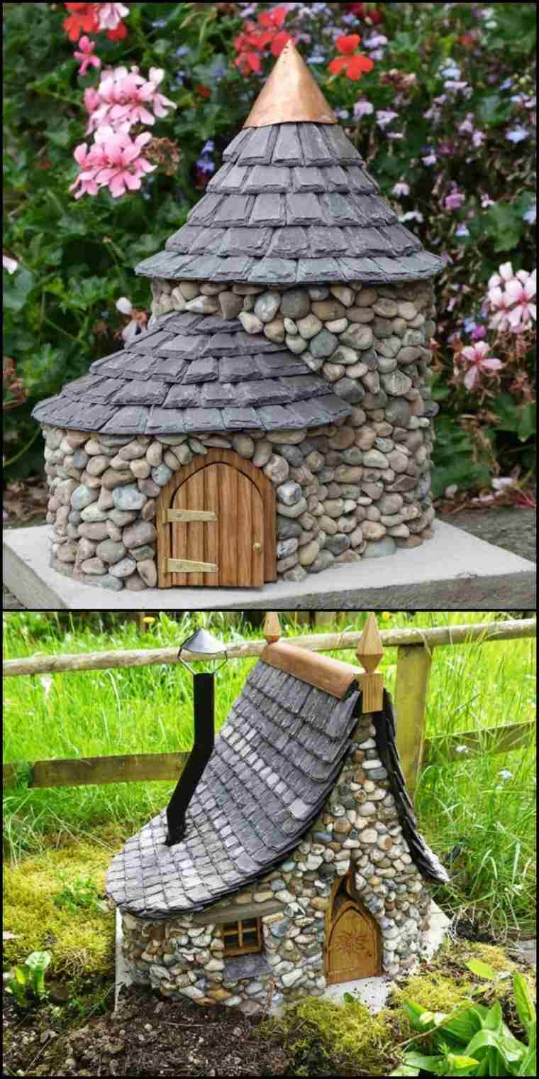 ideas creativas jardin decorar piedras original