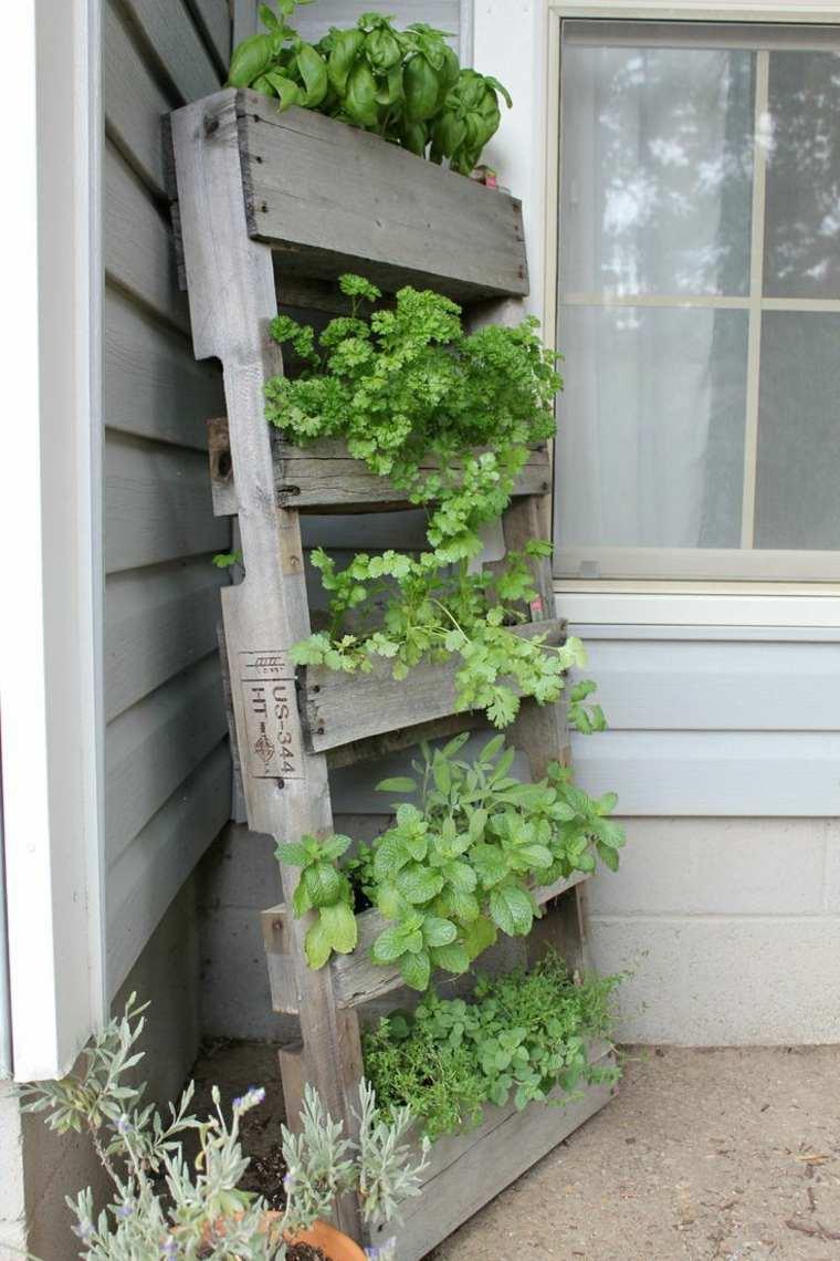ideas creativas manualidades jardin vertical palets