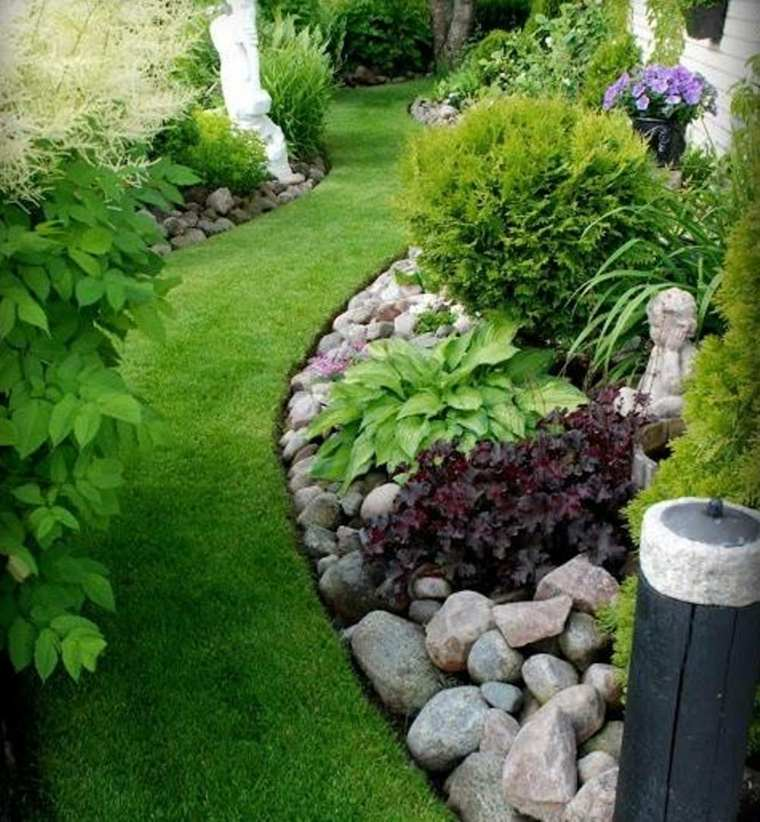 ideas decorar jardn piedras plantas
