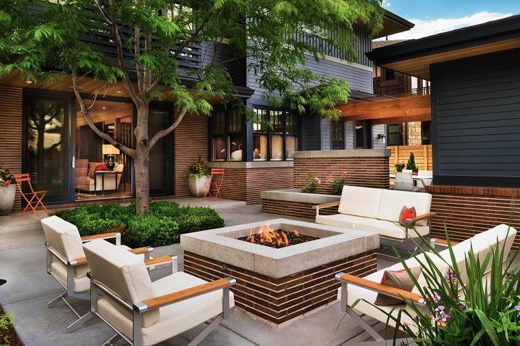 Ideas iluminaci n con pozos de fuego en el jard n - Iluminacion de jardines modernos ...