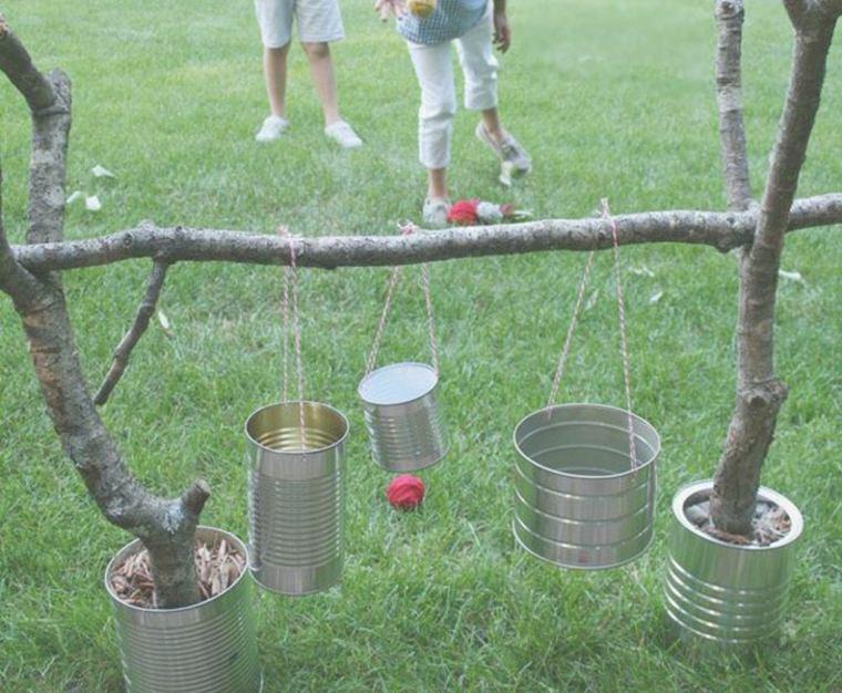 ideas juegos infantiles exterior latas