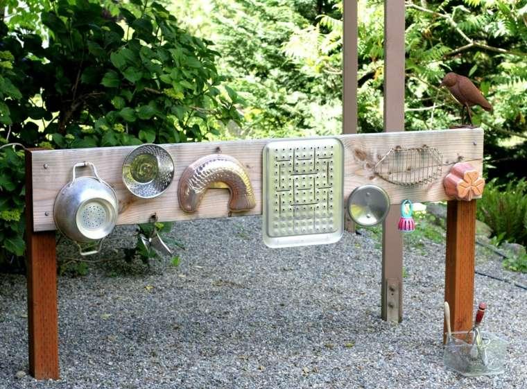 ideas juguetes utensilios reciclados jardín