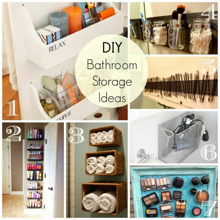 ideas para almacenamiento cuarto bano