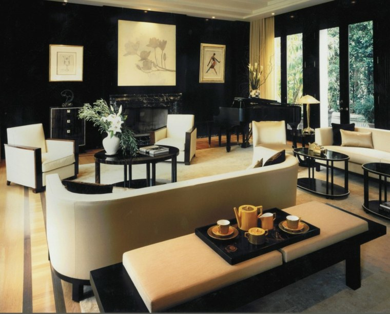 ideas para diseño interior negro amarillo