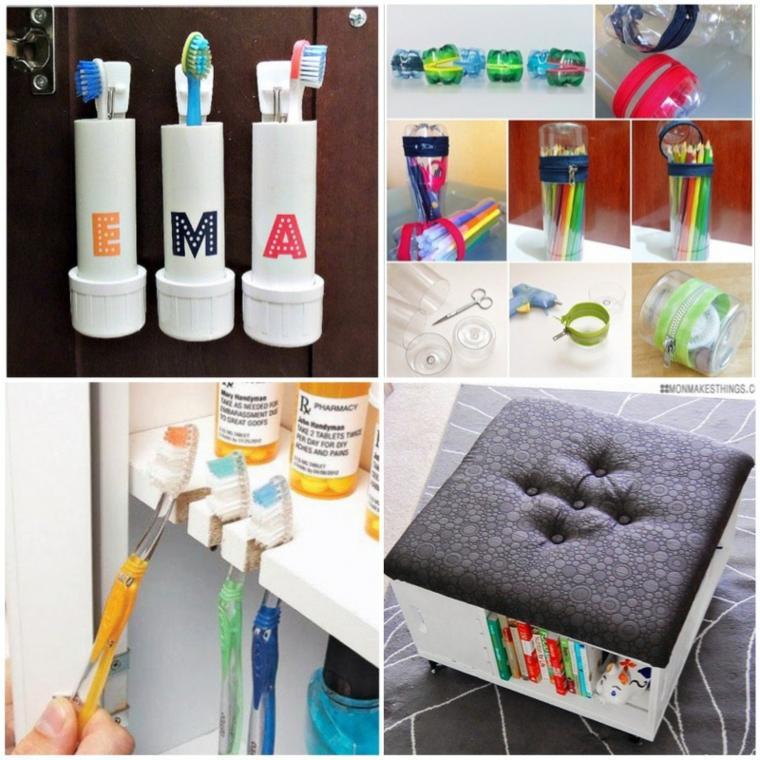 ideas almacenar cepillos cuarto bano