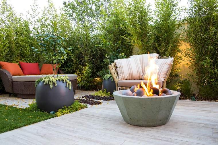 iluminacion pozo fuego jardin Studio H Landscape Architecture ideas