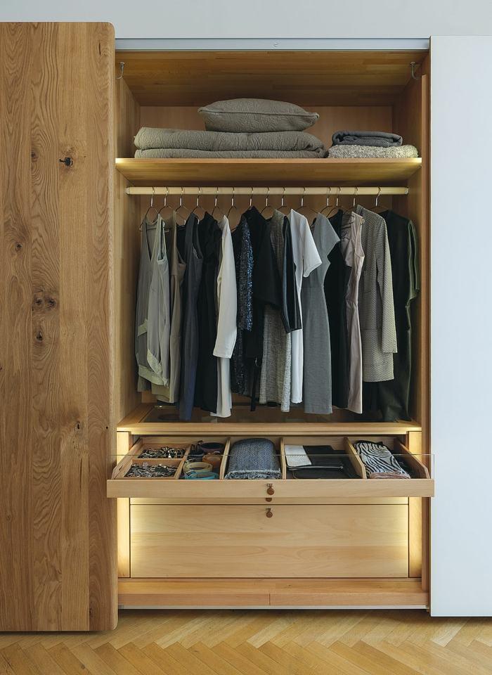 interiores de armarios conceptos materiales cojies