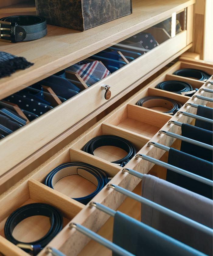 interiores de armarios gaveteros estantes corbatas