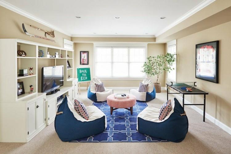 interiores mobiliario alfombras sala cojiones