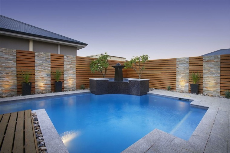 jardin diseno moderno piscina minimalista
