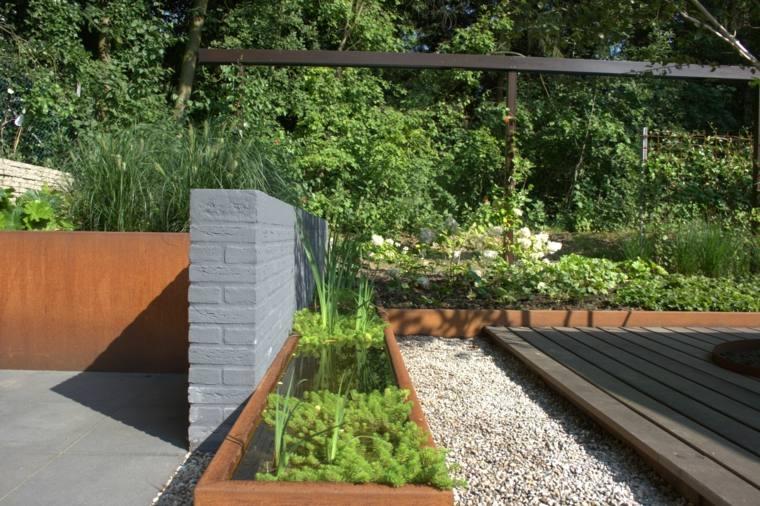 jardin frontera acero corten opciones disenos ideas