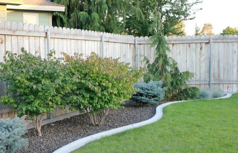jardin valla madera frontera hormigon ideas