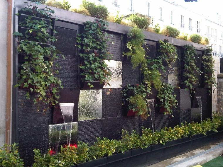Paredes y vallas con jardines verticales - Plantas para jardin zen ...