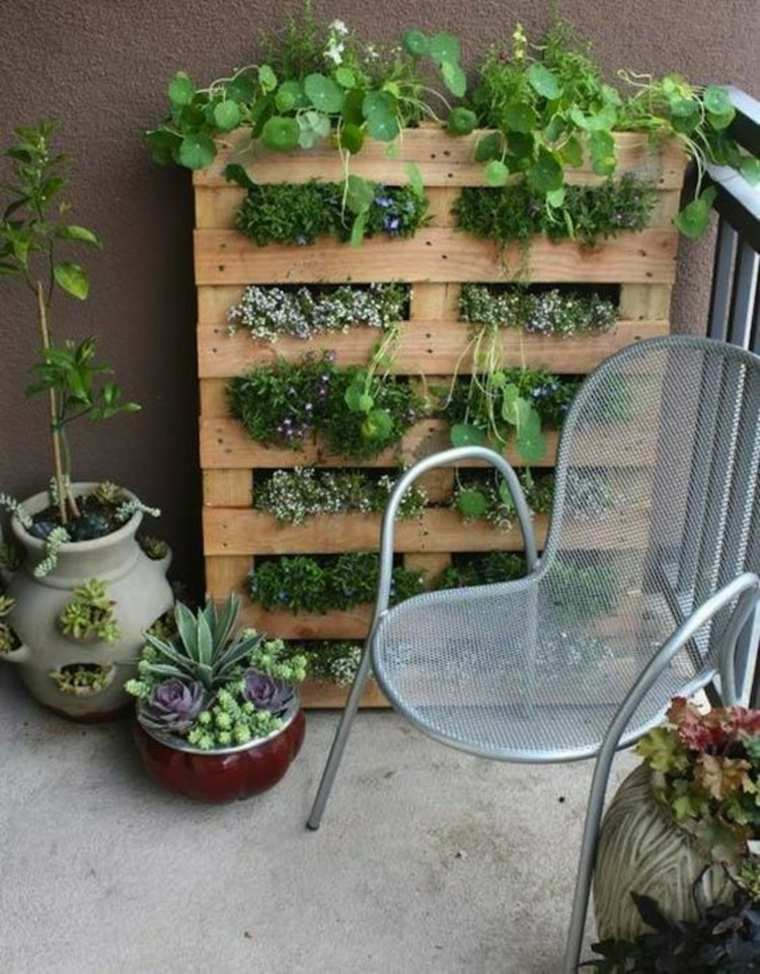 jardinera vertial palet terraza