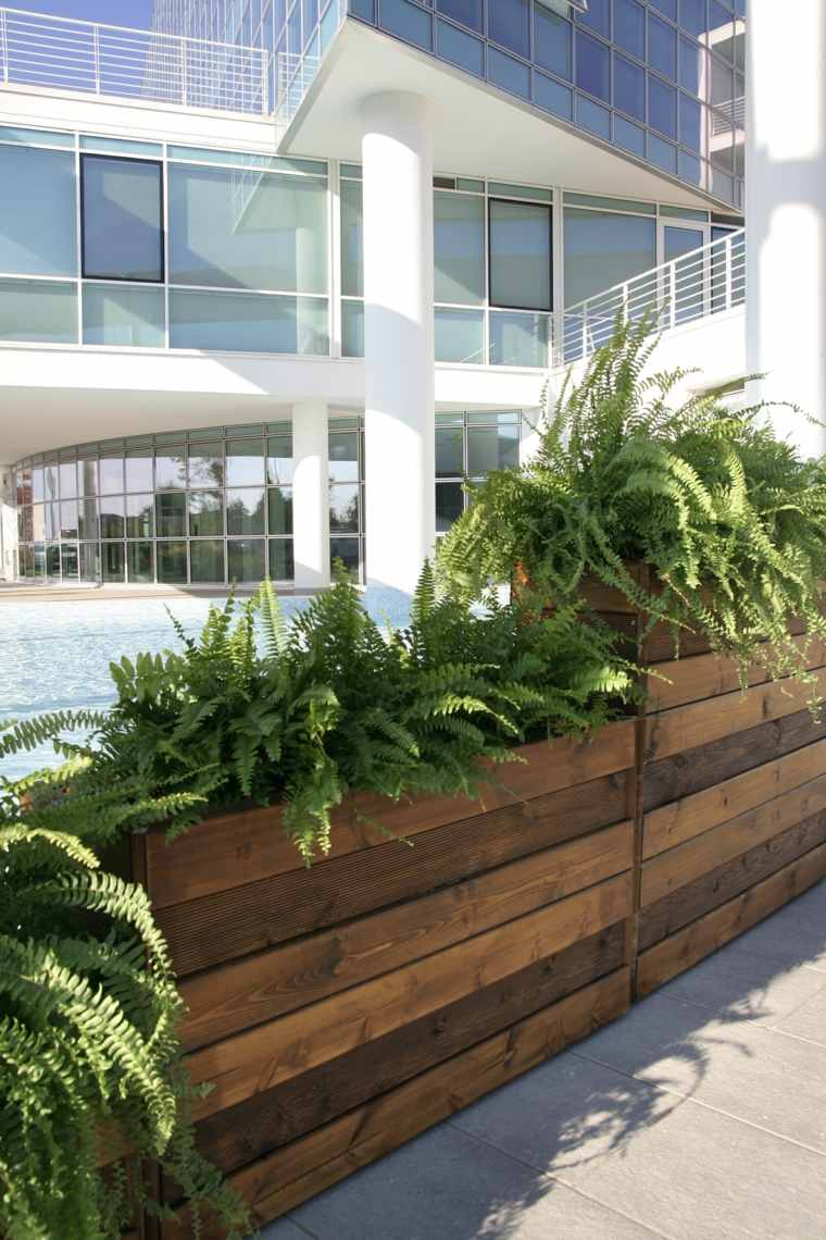 jardineras macetas opciones interesantes altas madera ideas