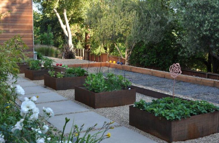 jardineras macetas opciones interesantes corten acero ideas