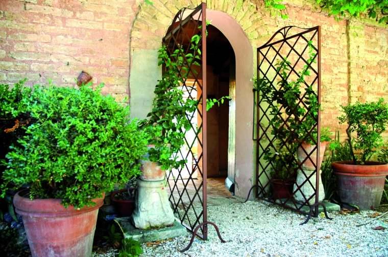 jardineras macetas opciones interesantes entrada casa ideas