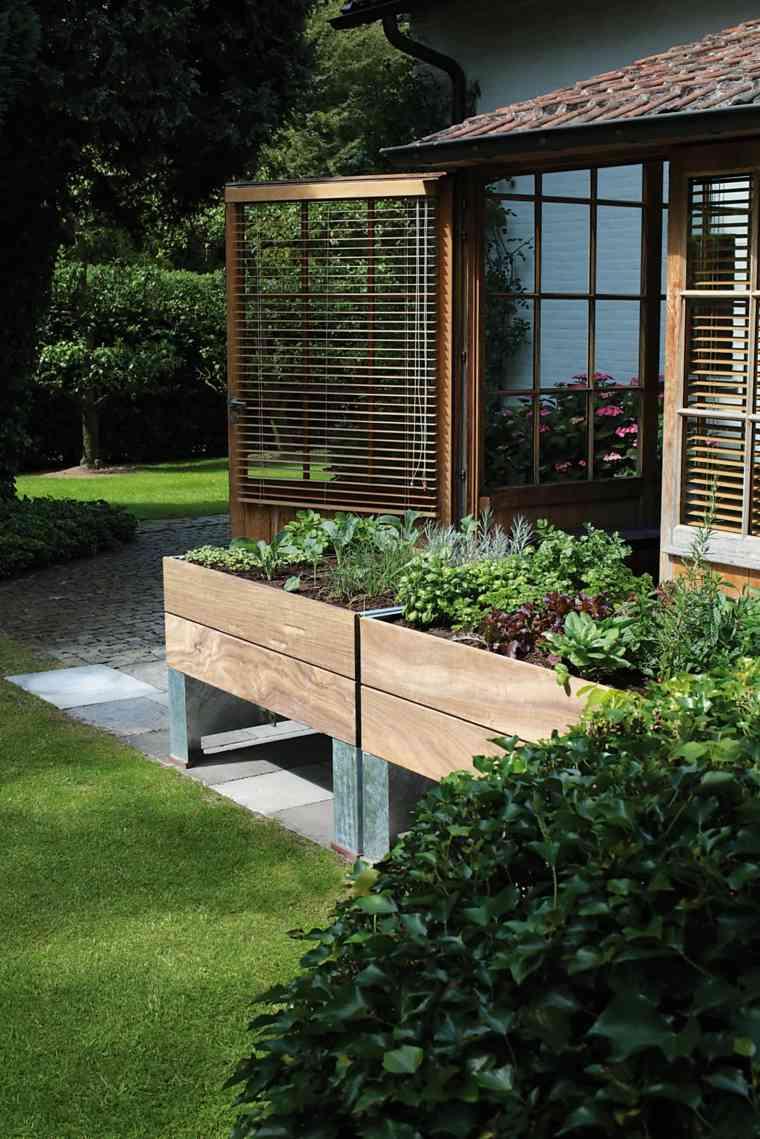 jardineras macetas opciones interesantes madera altas ideas