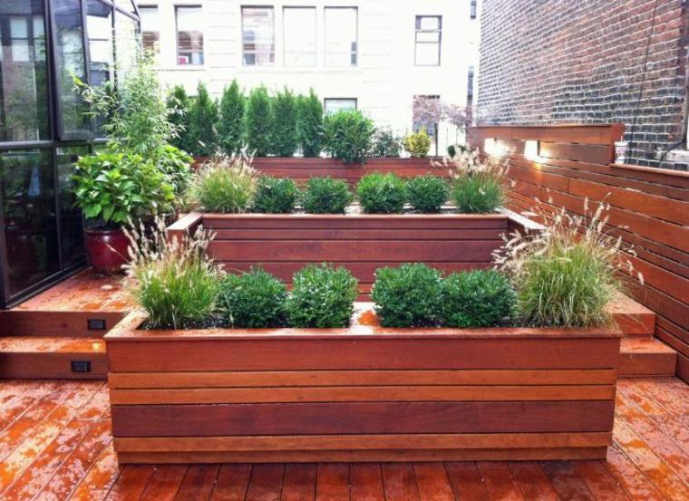 jardineras macetas opciones interesantes madera terraza ideas
