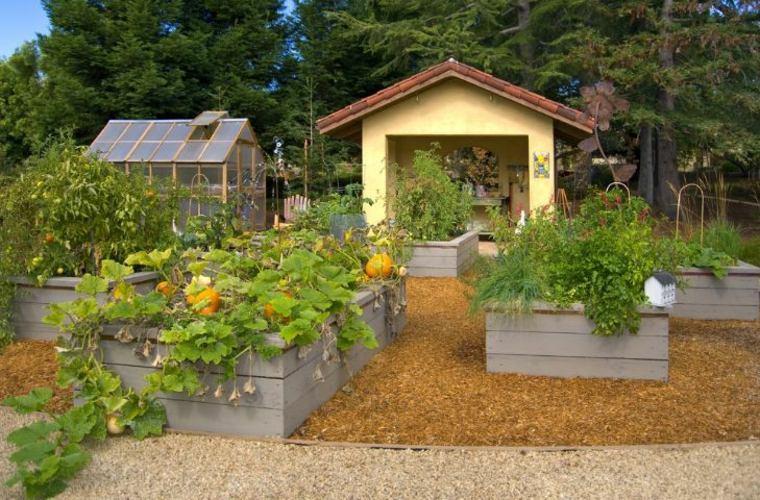 jardineras macetas opciones interesantes pintadas color gris ideas