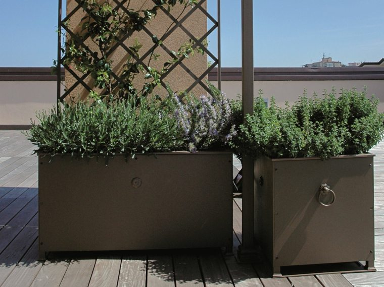 jardinera opciones metal negro ideas