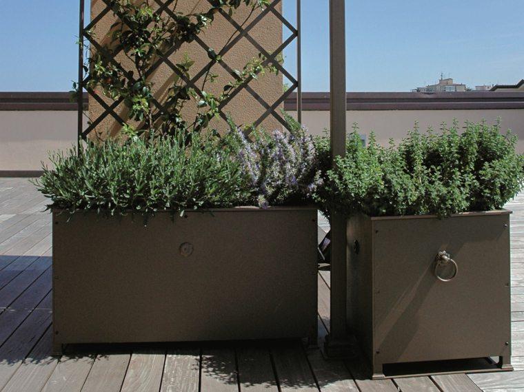 jardinera opciones interesantes metal negro ideas