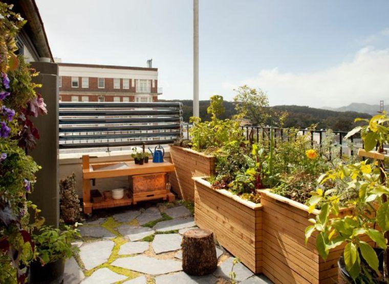 jardinera techo madera opciones interesantes ideas