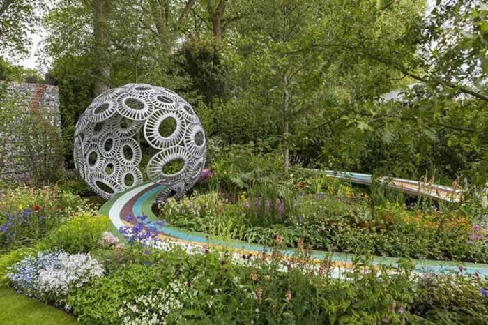 jardineria tendencias colores esferas sendros