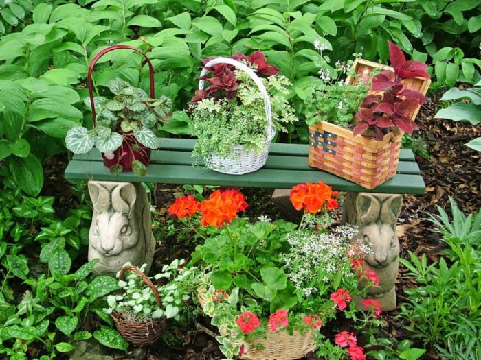 jardines decoracion canastas simples amarillo