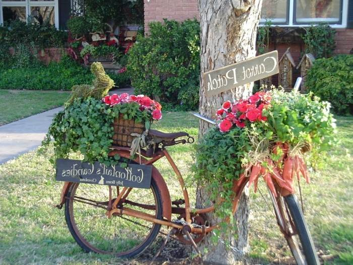 jardines decoracion ideas bicicletas