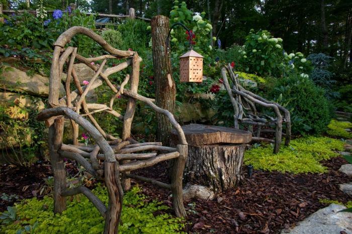 jardines decoracion estilos madera mantillo
