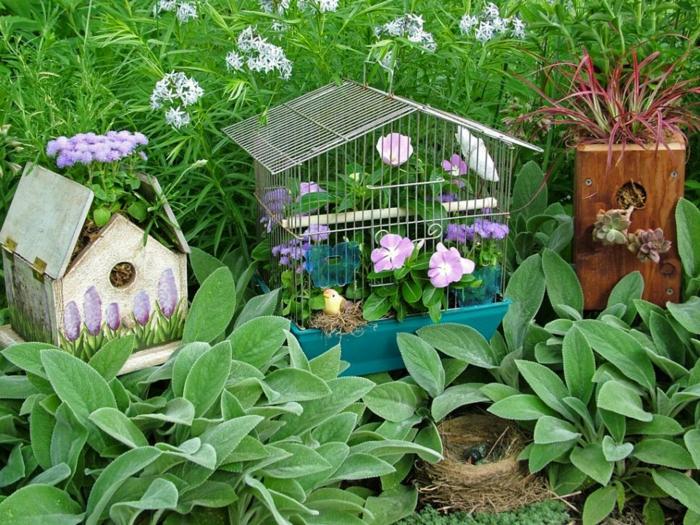 jardines decoracion jaulas pajaros suelos