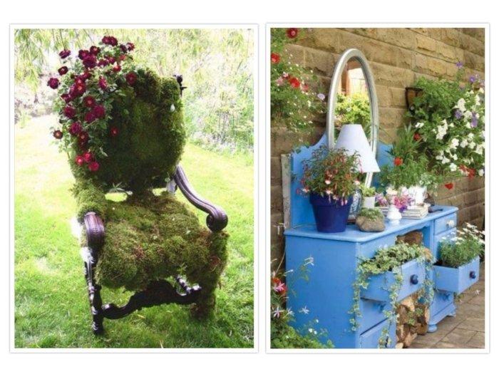jardines decoracion muebles materiales muestras